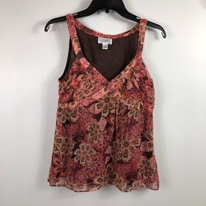 LOFT - Size 4-  Multicolored sleeveless top